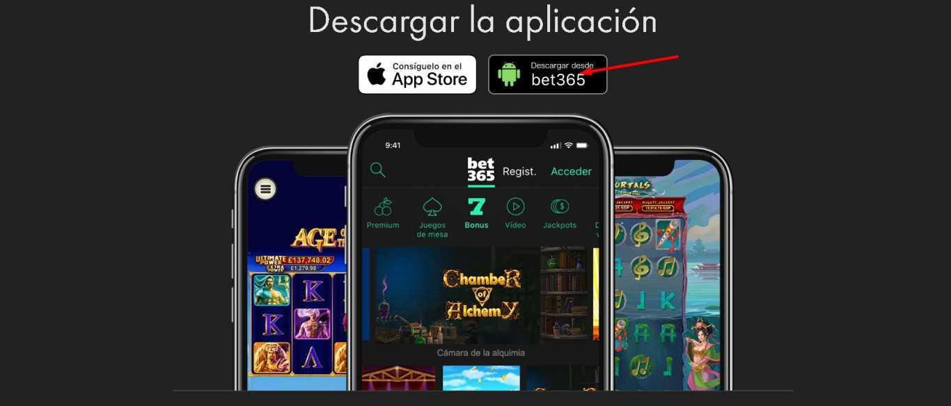 Grandes opciones de apuestas con Bet365 App descargar.
